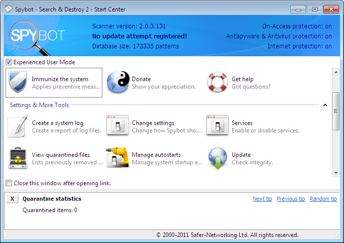 spybot search and destroy antivirus review