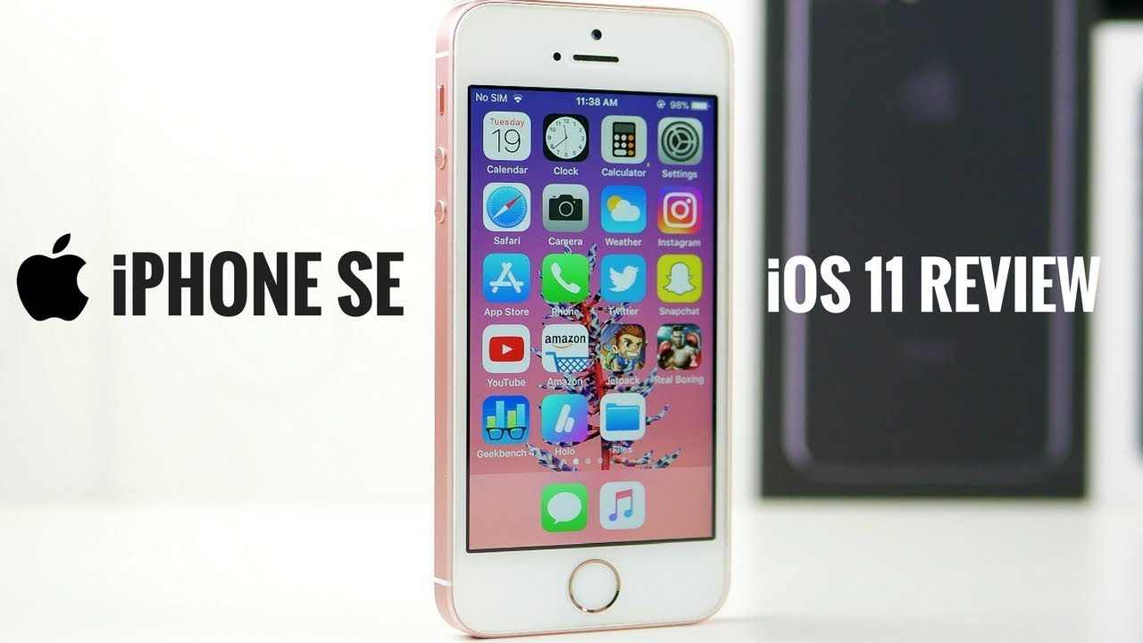 ios 11 on iphone se review