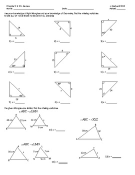 right triangle trig review worksheet answers